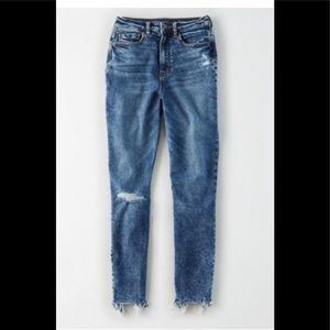 AE Highest Waist Mom Jeans size 8 X-Short